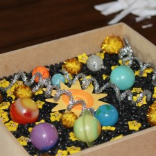 We made a sun sensory bin for all the kids to enjoy
