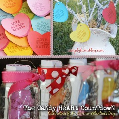 Conversation Heart Countdown to Valentines Day: 16 Days of Celebrating God's Love
