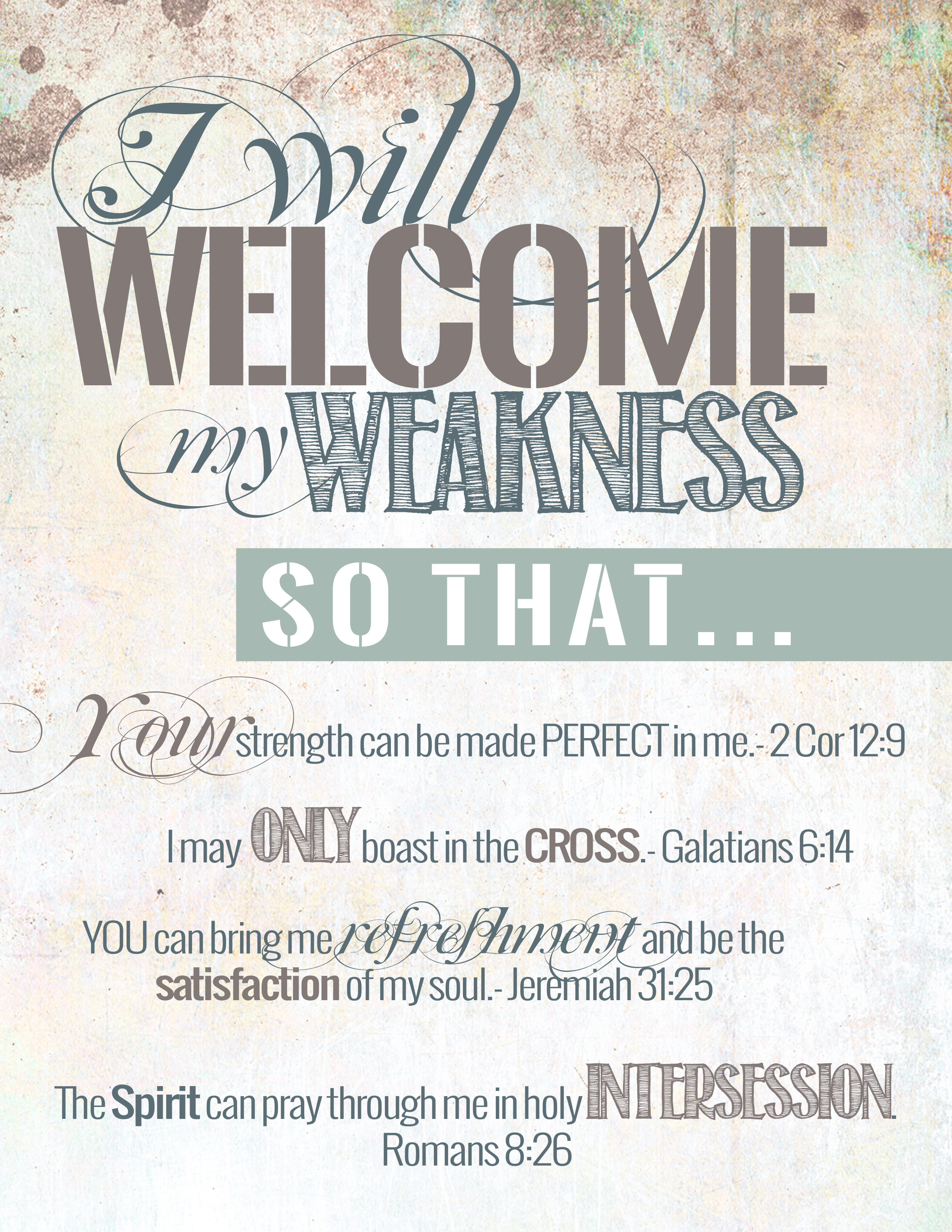 welcome weakness